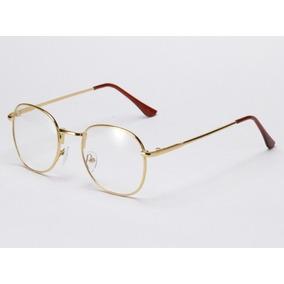 ab749d8ab222c Armacao Oculos Masculino Chanel - Óculos Dourado no Mercado Livre Brasil