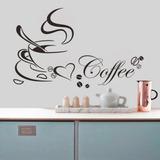 Vinilo Decorativo Taza Coffe Cocina Pared Mas Diseños 4u