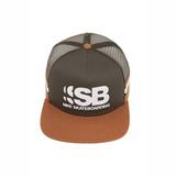 Boné Nike Sb Masculino Skate Cut Trucker Marrom Verde Nf 6ed602dfd09