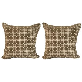 Set De 2 Cojines Decorativos 45x45 - Esquire - Café