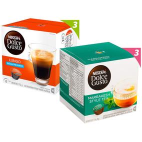Pack 6 Cajas Nescafé Dolce Gusto Mix Descafeinado Y Té