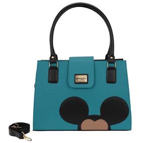 60b76acf030a0 Bolsa Mickey Feminina Quadrada Ombro Com Alça Transversal