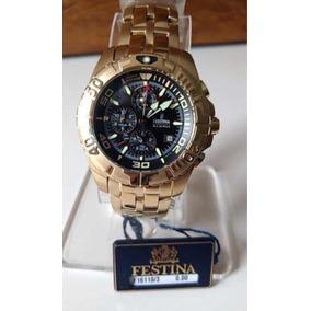 c2f7f81f8b2 Relogio Festina Dourado 16119 - Relógios no Mercado Livre Brasil