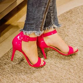 Sandália Feminina Taynara Salto Alto Pink Confortável