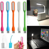 Luz Lampara Usb Led De Silicona Linterna Flexible