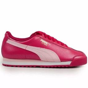 Tenis Mujer Joven Puma Roma Basic Glitter Rosa Envío Dhl