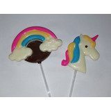 Chupetines De Chocolate. Arco Iris. 10 Unid. Candy Bar