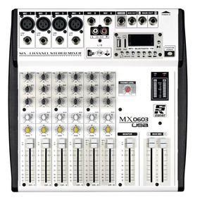 Mesa De Som Staner Mixer 603 Usb