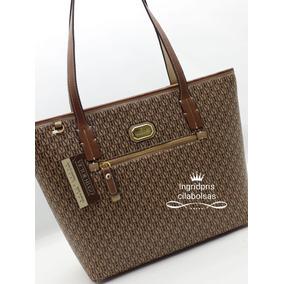 Bolsa Victor Hugo Com 2 Ziper - Bolsas Femininas Dourado escuro no ... 6ef36cd85a
