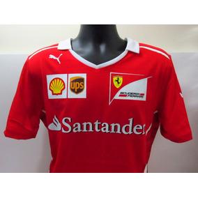 fff3adb9f1 Camisa Ferrari Santander - Pólos Manga Curta Masculinas no Mercado ...