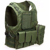 Colete Tático Modular Tan Airsoft Militar Molle + Luva Tan 4d99db1d305eb
