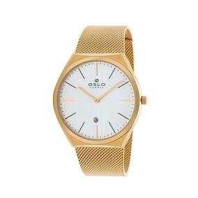 2177b54f459 Relogio Oslo Dourado - Relógios no Mercado Livre Brasil