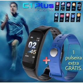 Relógio Inteligente Smartband Mede Pressão + 1 Puls. Extra