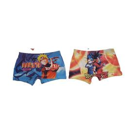 Cueca Boxer Infantil Crianças Personagens 02 Peças Promoção 53e61072b1848
