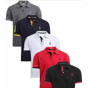 Combo 5 Pçs Camisa Polo Giraffe Original 100% Algodão Masc G 34a8c3fb38ee2