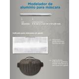 Clips Nasal Alumínio Moldador P/ Máscaras - Pacote C/100pcs