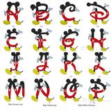 Mickey Alfabeto Abc Matrizes Bordados Pes, Envio Em 5 Min