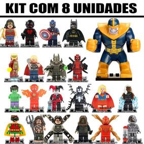 Kit 8 Bonecos Vingadores Marvel Dc Super Herois Lançamentos