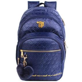 Mochila Capricho 11344 Escolar Love Blue Azul