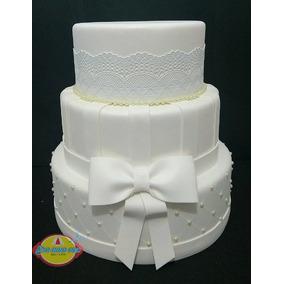 Bolo Fake Falso Cenográfico Casamento / Noivado / 15 Anos