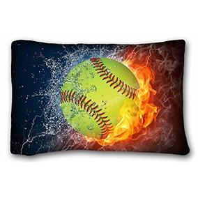 8788b4e2538c1 Tarolo Custom Softball Art Pattern Funda De Almohada Funda D
