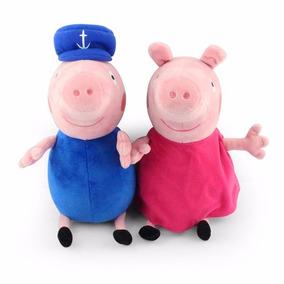 Peppa Pig Vovô E Vovó Pig Em Pelúcia Pronta Entrega