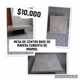 Mesa De Centro Cubierta Marmol