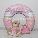 Guirlanda Porta Maternidade Ursinhas Feltro Bebê