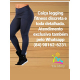 Calça Legging Fitness Discreta E Detalhada.