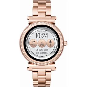 Reloj Smartwatch Michael Kors Sofie Pavé Rosa Dorado