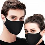 Máscara Reutilizável Tecido Lavável Dupla Camada Preta Nfe
