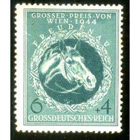 Alemanha Reich 1944 Cabeça De Cavalo De Corrida Veja + Selos