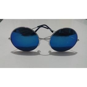 d24895784 Oculos De Sol Redondo Ozzy Lennon Azul - Óculos no Mercado Livre Brasil