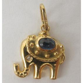 e4027e9b7ed24 Joianete A9117-01804 Solitário Ouro Branco Diamante 7pts. São Paulo · 2434  Pingente Ouro 18k Elefante Safira Azul Diamante