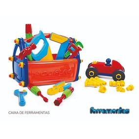 Caixa De Ferramentas Brinquedo Educativo 21 Peças Poliplac