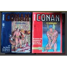 Lote Revistas Hq Abril - Raras De Conan O Barbaro N° 2 E 3