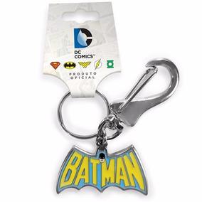 Chaveiro De Metal - Batman 60s Logo - Oficial Dc Comics