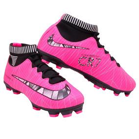 724fdc035c Chuteira Botinha Infantil - Chuteiras Nike Rosa chiclete no Mercado ...