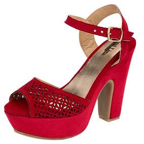 15e02e1a Zapatos De Plataforma Con Tirantes Otros Tacones Zapatillas - Zapatos para  Niñas Rojo en Mercado Libre México