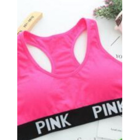 Top Deportivo Brasier Sujetador Fitness Top Fitness Pink