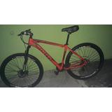 Bike Aro 29 Quadro 20 21v Cor Vermelho Com Prero.