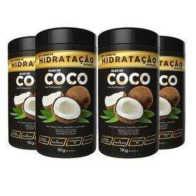 4 Unid Hidratação Coco 1kg Ix1975