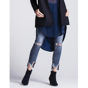 Calça Jeans Feminina Bordado Girl Gang Barra