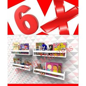 Prateleira Infantil Para Livros Mdf Compre 4 Leve 6 - 60cm V