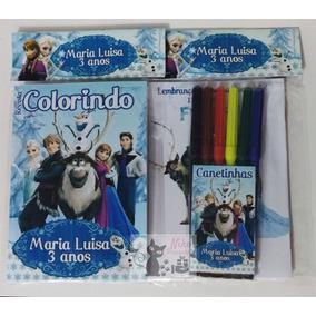 Promoção 20 Kit Colorir Personalizado Canetinha R$3,50 Cada
