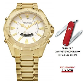 c2c843d285497 Relógio Technos Masculino Skydiver T205fl 4b + Brinde C  Nf