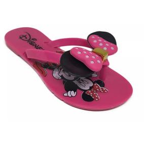 Kit 10 Par Chinelo Mel Feminina Infant Atacado Orelha Mickey