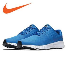 b80e0b33f3 Tenis Nike Star Runner Azul  2.5 Y 3.5 (100% Originales Piel