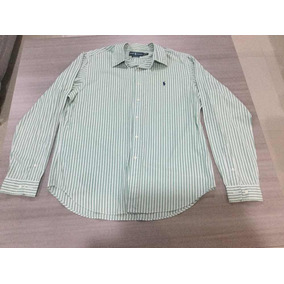 Camisa Ralph Lauren Rayas Verde