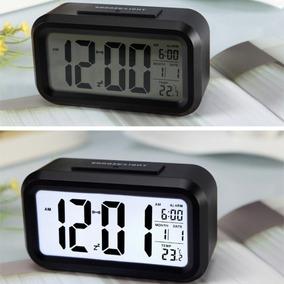 21f921cabbf Relógio Led Com Luz Noturna Automático Led Despertador Mesa · 4 cores